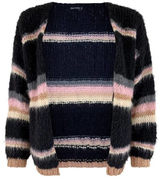 Thumbnail for your product : Margaux Black Multi Stripe Cardigan