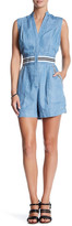 Plenty by Tracy Reese Striped Trim Chambray Romper