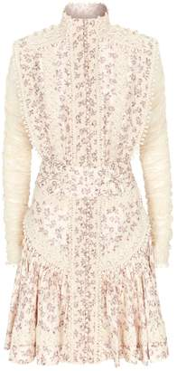 Zimmermann Sabotage Embroidered Shirt Dress