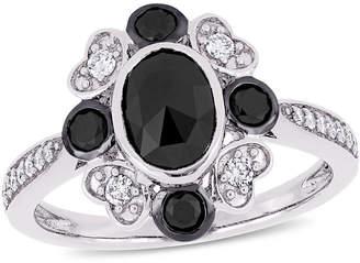 Black Diamond FINE JEWELRY Womens 1 1/4 CT. T.W. Genuine 10K White Gold Cocktail Ring