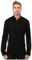 DKNY Long Sleeve Quilted 1/4 Zip Sweater