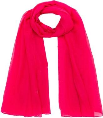 World of Shawls Ladies Large Plain Sarong Scarf Dress Wrap Cover Up Beachwear Swimwear (Hot Pink)