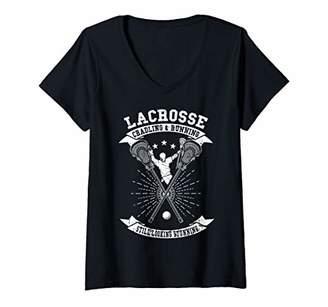 LaCrosse Womens Cradling Running Still Looking Stunning Funny Gift V-Neck T-Shirt