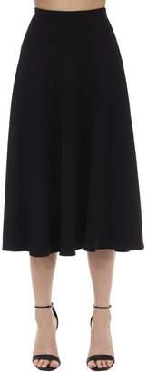 L'Autre Chose High Waist Viscose Blend Midi Skirt