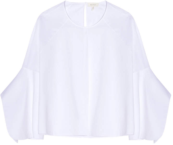 DELPOZO Long Sleeves Crop Top