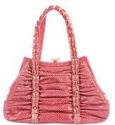 Judith Leiber Karung Pleated Bag