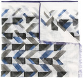 Canali geometric pattern scarf - men - Cotton/Linen/Flax - One Size