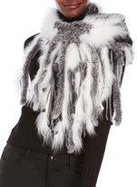 Dena Real Rabbit & Fox Fur Scarf