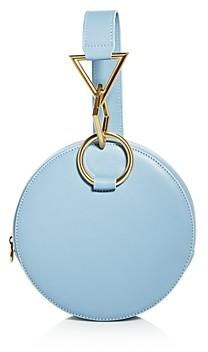 Tara Zadeh Azar Medium Round Leather Clutch