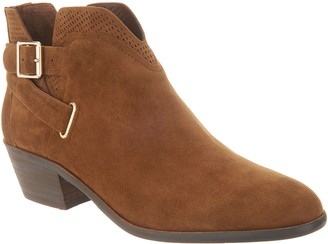 Vince Camuto Suede Exposed Ankle Booties - Panthea
