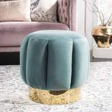 Chloé Foundstone Channel Tufted Otttoman Foundstone Upholstery Color: Seafoam