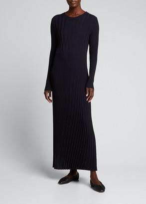 Max Mara Nausica Ribbed-Knit Column Dress