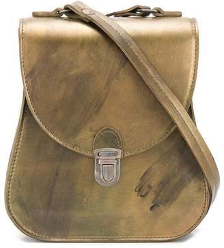 Cherevichkiotvichki paint distressed effect leather satchel