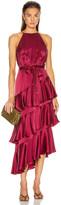 Zimmermann Silk Picnic Dress in Berry   FWRD
