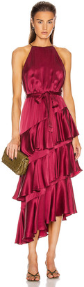 Zimmermann Silk Picnic Dress in Berry | FWRD