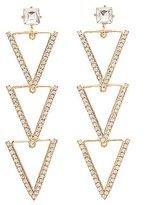 Charlotte Russe Embellished Triangle Drop Earrings