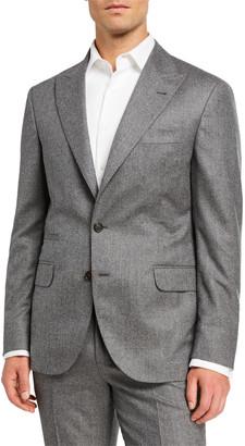 Brunello Cucinelli Men's Micro-Stripe Flannel Two-Piece Suit