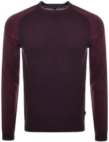 Ted Baker Crew Neck Pepmint Jumper Purple