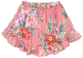 Zimmermann Kids Bellitude floral cotton skirt