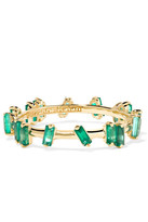 Suzanne Kalan 18-karat Gold Emerald Ring - 7