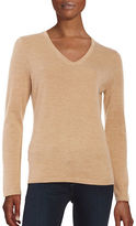 Lord & Taylor Merino Wool V-Neck Sweater