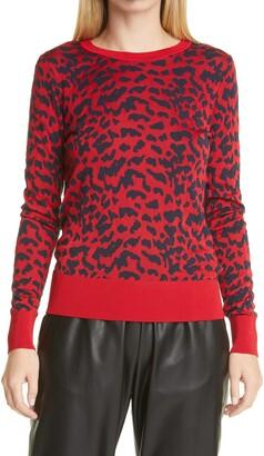 HUGO BOSS Faddie Leopard Spot Jacquard Sweater
