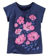 Osh Kosh Toddler Girl Sparkle Flower Tee