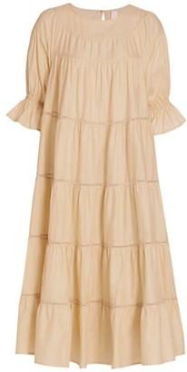 Merlette New York Paradis Tiered Midi Dress