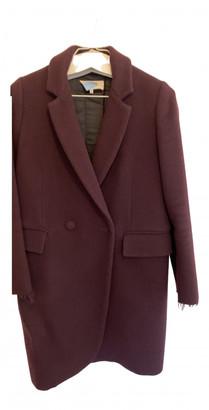 Maison Margiela Burgundy Wool Coats