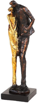 Uma Enterprises Uma Tall Metallic Bronze & Gold Human Figurines Embracing Sculpture On Black Base