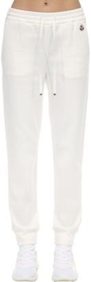 Moncler Cotton Track Pants W/ Logo Patch