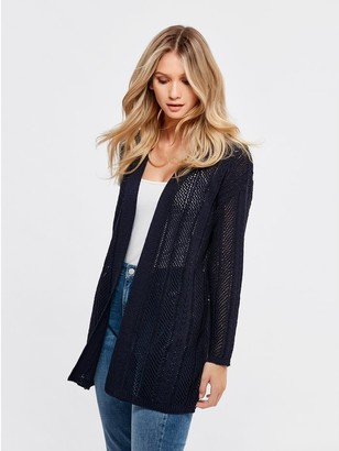 M&Co Long pointelle cardigan