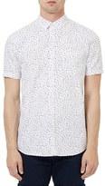 Topman Men's Raindrop Print Short Sleeve Shirt