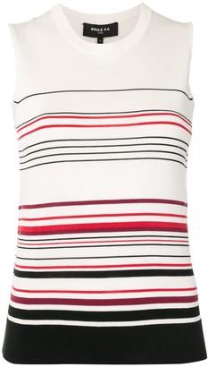 Paule Ka Striped Sleeveless Pullover