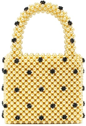 Shrimps Dolly Small beaded tote