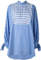 Ermanno Scervino striped oversized shirt - women - Cotton/Brass/Methyl Methacrylate - 42