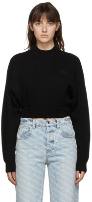 alexanderwang.t Black Wool Cropped Sweater