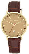 Vince Camuto Brown Leather Strap Watch