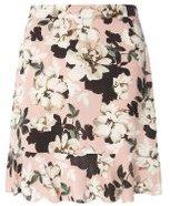 Dorothy Perkins Womens Blush Floral Pephem Mini Skirt- Pink