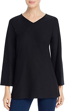 Eileen Fisher Petites V-Neck Tunic Top