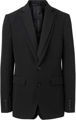 Burberry English Fit Reconstructed Wool Tailored Jacket