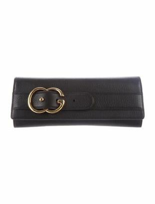 Gucci GG Leather Clutch Black