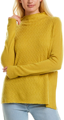 InCashmere Mock Neck Cashmere Sweater