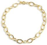 Ippolita Classico Short 18K Yellow Gold Hammered Bastille Mini Link Necklace
