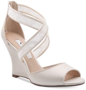 Nina Elyana Strappy Evening Wedge Sandals Women's Shoes