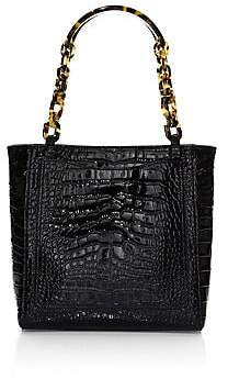 Edie Parker Women's Mini Croc-Embossed Tote