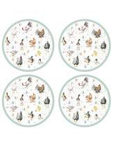 Pimpernel Wrendale Farmyard Feathers Placemats x4