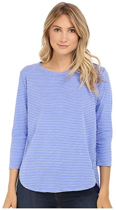 Fresh Produce Pinstripe Catalina Top (Peri Blue) Women's Clothing