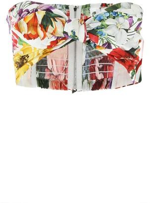 Dolce & Gabbana Floral Front Knot Bandeau