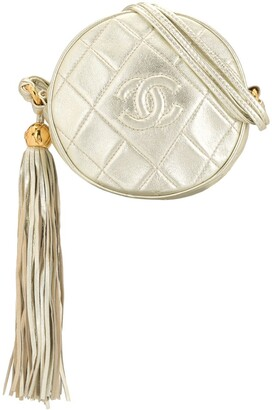 Chanel Pre Owned Quilted Logo Cross Body Bag